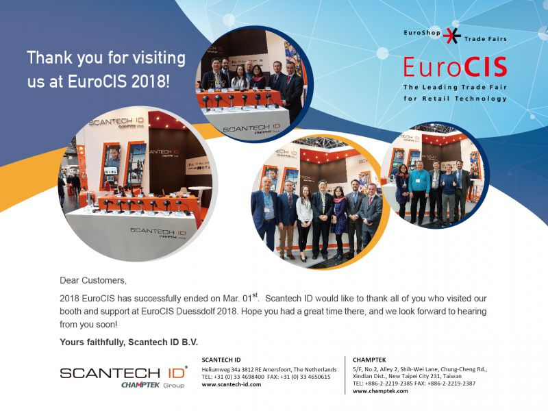 2018 EuroCIS Feb.27-Mar.01-Thank you for your coming!!