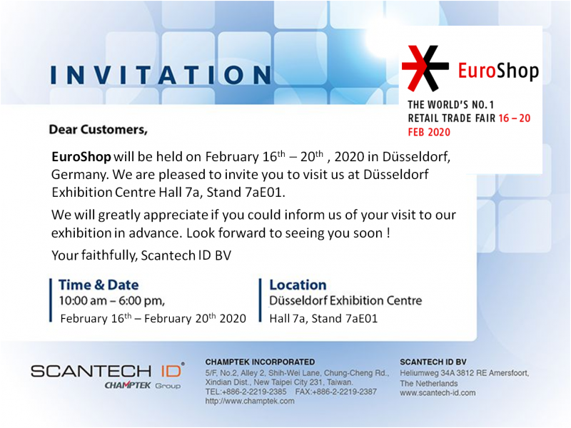 2020 EuroShop Feb.16-20 in Dusseldorf, Germany !